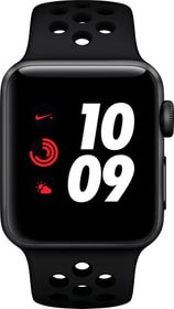 Watch Nike+ Series3 GPS+Cellular 38mm Space Grey Aluminium Case Anthracite Black Nike Sport Band Smartwatch Apple 785300139122 Photo no. 1