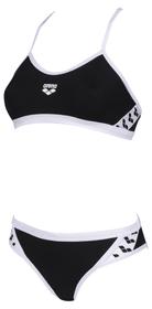 W Team Stripe Two Pieces Bikini pour femme Arena 468113903620 Taille 36 Couleur noir Photo no. 1