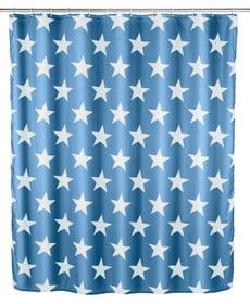 Tenda doccia Stella antimuffa blu opaco WENKO 674010700000 Colore Blu Scuro Taglio 180 X 200 CM N. figura 1