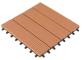 Composit-lastre terrazzo 30 x 30 cm Piastrella in materia WPC Do it + Garden 647109300000 Colore Marrone N. figura 1