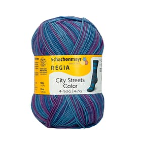 Filati percalze 667091400050 Taglio L: 16.0 cm x A: 8.0 cm Colore Blu/Viola Dyna N. figura 1