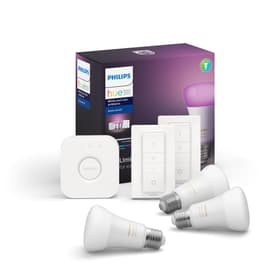 HUE White & Color Ambiance Starterset 3x E27 9W Philips hue 421075200000 Bild Nr. 1