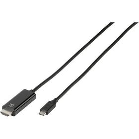 Cavo di collegamento USB tipo C -> HDMI, nero 1,5m cavo HDMI Vivanco 770819000000 N. figura 1