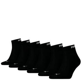 Lot de 6 Quarter Chaussettes de sport Puma 497188739320 Taille 39-42 Couleur noir Photo no. 1
