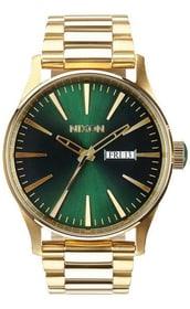 Sentry SS Gold Green Sunray 42 mm Montre bracelet Nixon 785300136977 Photo no. 1