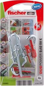 DUOPOWER 8 x 40 avec crochet rond Cheville universelle fischer 605441200000 Photo no. 1