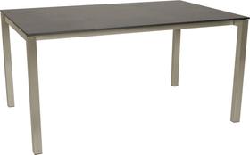 KANO, 150/210 cm, struttura acciaio, piano HPL Tavolo allungabile 753194315083 Taglio L: 150.0 cm x L: 95.0 cm x A: 74.0 cm Colore Dark grey N. figura 1