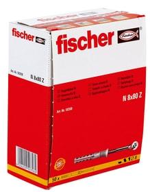 Tampon à clou N 8 x 80/40 avec vis Tampon à clou fischer 605442800000 Photo no. 1