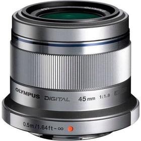M.Zuiko DIGITAL 45mm f/1.8 Objectif argent Objectif Olympus 785300125767 Photo no. 1