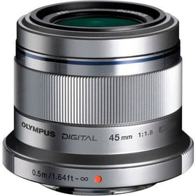 M.Zuiko DIGITAL 45mm F1.8 argent Objectif Olympus 785300125767 Photo no. 1
