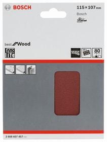 Schleifblatt zu GSS 18V 115x107mm K80 Bosch Professional 616897900000 Abmessungen 115x107 mm Körnung P80 Bild Nr. 1