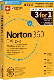 Norton Security 360 Deluxe 25GB 3For1 De Physisch (Box) 785300149619 Photo no. 1
