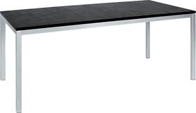 LOCARNO, 140 cm, struttura Acciaio inox, piano Granit Tavolo 753192614020 Taglio L: 140.0 cm x L: 80.0 cm x A: 74.0 cm Colore Nero N. figura 1