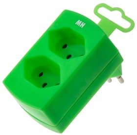 Fiche Multiple 2 x T13 vert  fluorescent