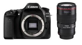 EOS 80D + EF 100mm Makro 2.8L Kit appareil photo reflex Canon 785300126142 Photo no. 1