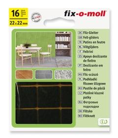 Filzgleiter 3 mm / 22 x 22 mm 16 x Möbelgleiter Fix-O-Moll 607068200000 Bild Nr. 1