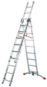 Kombileiter Hailo 630912500000 Anzahl Stufen / Sprossen 2x9 + 1x8 Bild Nr. 1