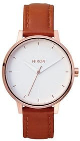 Kensington Leather Rose Gold White 37 mm Montre bracelet Nixon 785300136955 Photo no. 1