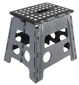 Sgabello pieghevole grigio / nero 630908600000 N. figura 1