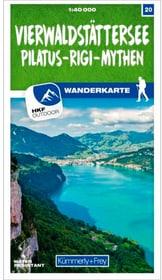 Lago dei Quattro Cantoni - Pilatus - Rigi - Mythen Carta escursionistica 20 785300159263 N. figura 1