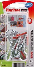 DUOPOWER 6 x 30 avec crochet rond Cheville universelle fischer 605441100000 Photo no. 1