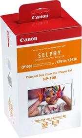 Jeu d'encre/papier au format carte postale Canon RP-108 pour Selphy Set cartouche d'encre et papier photo Canon 793190000000 Photo no. 1