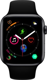 Watch Serie 4 44mm GPS space gray Aluminum Black Sport Band Smartwatch Apple 79845600000018 Bild Nr. 1