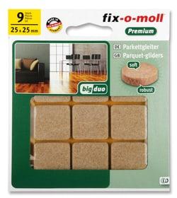 Parkettgleiter 5 mm / 25 x 25 mm 9 x Möbelgleiter Fix-O-Moll 607070900000 Bild Nr. 1