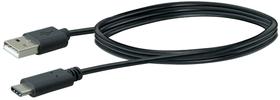 Kabel USB 3.1 1m schwarz, USB 2.0 TypA / USB 3.1 TypC Schwaiger 613183600000 Bild Nr. 1