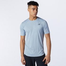 Q Speed Fuel Short Sleeve Herren-T-Shirt New Balance 470457800581 Grösse L Farbe Hellgrau Bild-Nr. 1