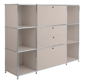 FLEXCUBE Buffet haut 401809400088 Dimensions L: 152.0 cm x P: 40.0 cm x H: 118.0 cm Couleur Gris taupe Photo no. 1