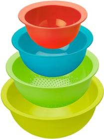 CARUBA Set bestehend aus 3 Schüsseln und 1 Sieb, Kunststoff (PP) BPA-frei, mehrfarbig Küche Rotho 604062000000 Bild Nr. 1