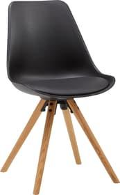 TOTTI Chaise 402359400020 Dimensions L: 48.0 cm x P: 53.0 cm x H: 85.0 cm Couleur Noir Photo no. 1