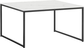 AVO Salontisch 402151600000 Grösse B: 65.0 cm x T: 65.0 cm x H: 35.8 cm Farbe Weiss / Schwarz Bild Nr. 1