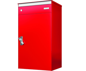 Briefkasten mit Paketschliessfach s:box17 Feuerrot/Feuerrot Stebler 604029600000 Bild Nr. 1