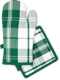 Ofenhandschuh & Topflappen Set Cucina & Tavola 700360200063 Farbe Dunkelgrün Bild Nr. 1
