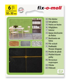 Piedini in feltro 3 mm / 32 x 32 mm 6 x Fix-O-Moll 607068600000 N. figura 1
