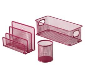 MESH Set pour bureau 3 pièces 440632400336 Couleur Pink Dimensions L: 28.0 cm x P: 9.0 cm x H: 13.5 cm Photo no. 1