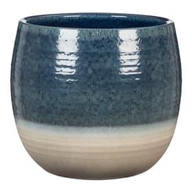 Keramik Übertopf Übertopf Scheurich 657033000015 Farbe Dunkelblau Grösse ø: 15.0 x H: 14.0 Bild Nr. 1