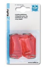 Etiketten rot, 4 Stk. Schlüsselanhänger Rieffel 605606400000 Bild Nr. 1