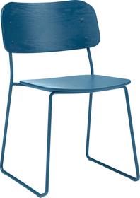 FAZIO Chaise 403720500043 Dimensions L: 51.0 cm x P: 55.0 cm x H: 79.0 cm Couleur Bleu foncé Photo no. 1