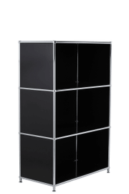 FLEXCUBE Highboard 401808600020 Grösse B: 77.0 cm x T: 40.0 cm x H: 118.0 cm Farbe Schwarz Bild Nr. 1