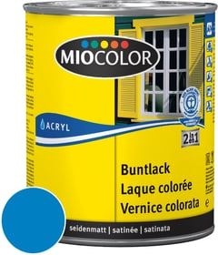 Acryl Vernice colorata satinata Blu cielo 125 ml Miocolor 660552600000 Colore Blu cielo Contenuto 125.0 ml N. figura 1