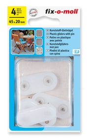 Patins en plastique avec clou 4 mm / 20 x 45 mm 4 x Patins en plastique Fix-O-Moll 607085200000 Photo no. 1
