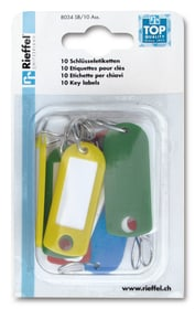 Etiquettes pour clés couleurs assorti, 20 pièces Porte-clés Rieffel 605604000000 Photo no. 1