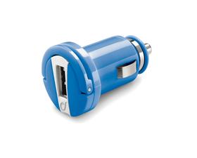 Ladegerät 12/24V mit USB, blau