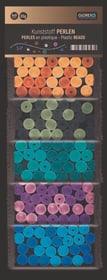 Kunststoff Perlen, Eis-bunt 8mm, 5-fach sortiert., 50g 608107500000 Bild Nr. 1