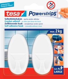 Powerstrips Haken large Oval Tesa 675670900110 Farbe Weiss Bild Nr. 1