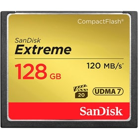 Extreme 120MB/s Compact Flash 128GB SanDisk 785300124263 Photo no. 1