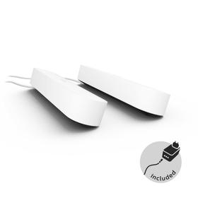 HUE PLAY DUO 2x Lampada da tavolo Philips hue 421236100000 Dimensioni L: 25.3 cm x P: 3.6 cm x A: 4.4 cm Colore Bianco N. figura 1